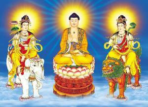 Cung dưỡng tam thánh, học đạo tu đời theo Phật, Bồ Tát để hưởng phúc