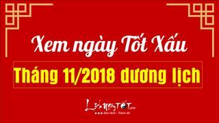 Xem ngày tốt xấu tháng 11/2018 dương lịch cho KHAI TRƯƠNG, MUA XE, CHUYỂN NHÀ
