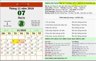 Tháng 10 Âm lịch năm 2018 có 29 hay 30 ngày?