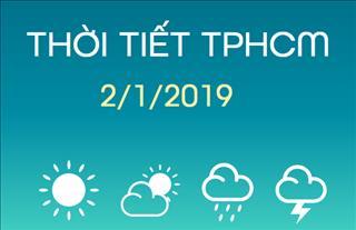 Dự báo thời tiết TPHCM 2/1: Mưa rào rải rác vẫn tiếp diễn trong ngày