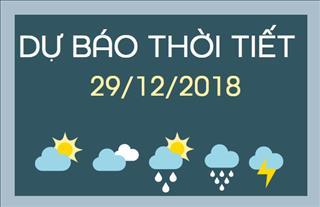 Dự báo thời tiết hôm nay 29/12: Miền Bắc trời giá rét do ảnh hưởng của không khí lạnh, cảnh báo áp thấp nhiệt đới trên biển có xu hướng mạnh lên thành bão