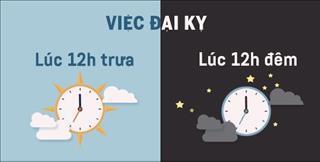 Infographic: Kiêng kỵ đáng sợ lúc 12h đêm và 12h trưa, ai cũng nên tránh