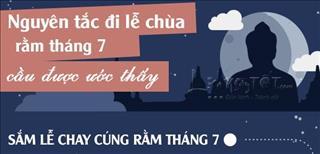 Infographic: Nguyên tắc, trình tự đi lễ chùa Rằm tháng 7 để cầu được ước thấy