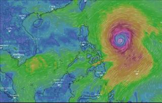 Chiều nay bão số 5 sẽ suy yếu thành ATNĐ, siêu bão Mangkhut đe dọa trực tiếp các tỉnh Bắc Bộ, Bắc Trung Bộ