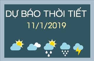 Dự báo thời tiết 11/1: Bắc Bộ vẫn còn sương mù và mưa nhỏ, Nam Bộ ban ngày trời nắng