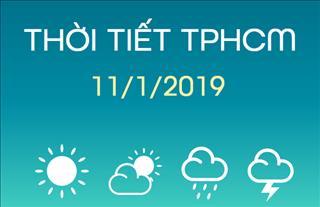 Dự báo thời tiết TPHCM 11/1: Ban ngày trời nắng nóng, tối nhiều mây