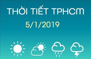 Dự báo thời tiết TPHCM 5/1: Trời quang mây, nhiều nắng, tối không mưa