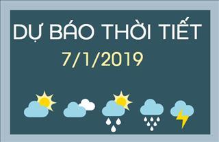 Dự báo thời tiết 7/1: Thời tiết không có nhiều biến động so với ngày hôm qua