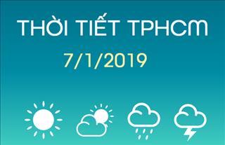 Dự báo thời tiết TPHCM 7/1: Ban ngày trời nhiều nắng, quang mây