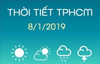 Dự báo thời tiết TPHCM 8/1: Nhiều mây, trời nắng nóng