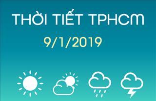Dự báo thời tiết TPHCM 9/1: Trời nắng, mức nhiệt khá cao 34 độ