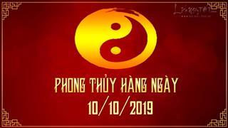 Xem phong thủy hàng ngày Thứ 5 ngày 10/10/2019: Lục Bạch thay đổi