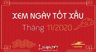 XEM NGÀY TỐT tháng 11 ÂM năm 2020 chuẩn Lịch Vạn Niên