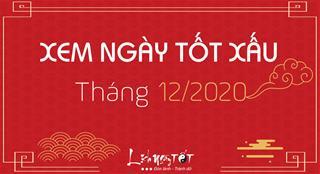 XEM NGÀY TỐT XẤU tháng 12 năm 2020 âm lịch