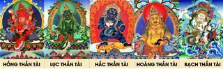 Ngũ bộ Thần Tài Tây Tạng là những ai, mỗi vị có công năng quảng đại gì?