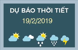 Dự báo thời tiết 19/2: Mưa dông trên diện rộng ở Bắc Bộ và Trung Bộ; chỉ số chất lượng không khí Hà Nội ở mức nghiêm trọng