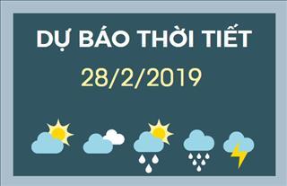 Dự báo thời tiết 28/2: Hà Nội có mưa phùn và sương mù, chất lượng không khí ở mức trung bình