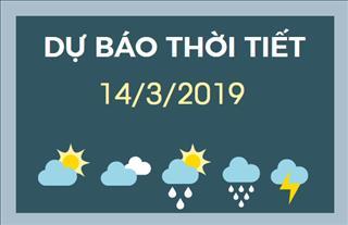 Dự báo thời tiết 14/3: Bắc Bộ đón một đợt không khí lạnh mới gây mưa và rét nhiều nơi