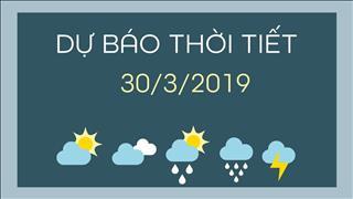Dự báo thời tiết 30/3: Miền Bắc mưa rào, trưa nắng, Miền Nam có dông