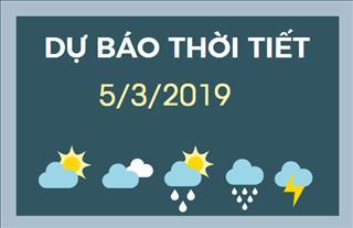 Dự báo thời tiết 5/3: Nam Bộ trời nắng, chất lượng không khí tại thành phố Hồ Chí Minh ở mức nghiêm trọng