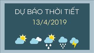 Dự báo thời tiết 13/4/2019: Miền Bắc nắng nóng, đêm mưa, Miền Nam đêm có dông