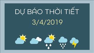 Dự báo thời tiết 3/4: Ba miền đều mưa, nhiều nơi mưa dông, có lốc