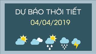 Dự báo thời tiết 4/4: Hà Nội có nắng, nhiệt độ tăng dần; Hồ Chí Minh xuất hiện mưa dông