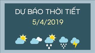 Dự báo thời tiết 5/4: Lượng mưa giảm dần ở toàn miền Bắc