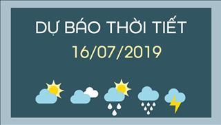 Dự báo thời tiết 16/7: Bắc Bộ có mưa dông