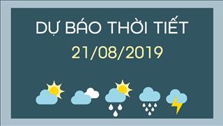 Dự báo thời tiết 21/8: Mưa lớn kéo dài từ Bắc Bộ đến Trung Bộ