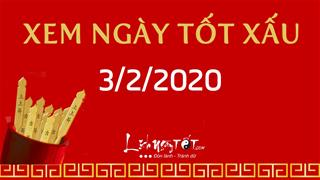Xem ngày tốt xấu hôm nay Thứ 2 ngày 3/2/2020 - Lịch âm 10/1/2020