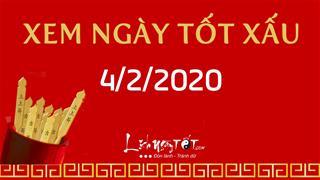 Xem ngày tốt xấu hôm nay Thứ 3 ngày 4/2/2020 - Lịch âm 11/1/2020