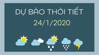 Dự báo thời tiết 24/1: Miền Bắc trời ấm lên, có mưa rào, sương mù