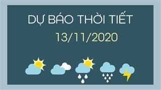 Dự báo thời tiết ngày mai 13/11/2020: Bắc Bộ giảm nhiệt, Trung Bộ giảm mưa