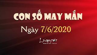 Con số may mắn ngày 7/6/2020 theo tuổi - Xem số đẹp trong ngày