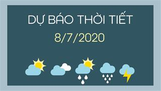 Dự báo thời tiết 8/7/2020: Hà Nội nắng nóng gay gắt, nhiệt độ cao nhất đến trên 38 độ