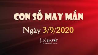 Con số may mắn ngày 3/9/2020 theo tuổi: Số đẹp hôm nay cho bạn