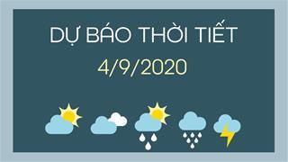 Dự báo thời tiết 4/9/2020: Hà Nội ngày nắng nóng, chiều tối có lúc có mưa rải rác vài nơi