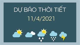 Dự báo thời tiết ngày mai 11/4/2021: Hà Nội giảm nhiệt, đêm và sáng có mưa nhẹ