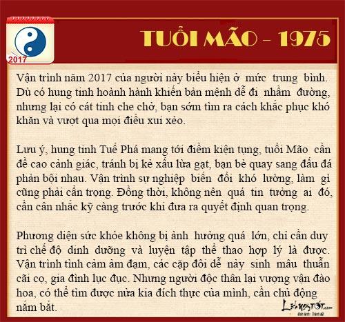 Tu vi tai loc nam 2017 cua nguoi tuoi Mao - tu vi tuoi Mao hinh anh goc 6