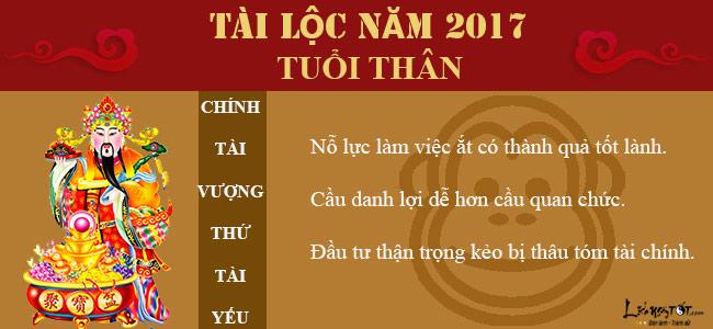 Tu vi tai loc nam 2017 cua tuoi Than - Tu vi tai loc tuoi Than hinh anh goc