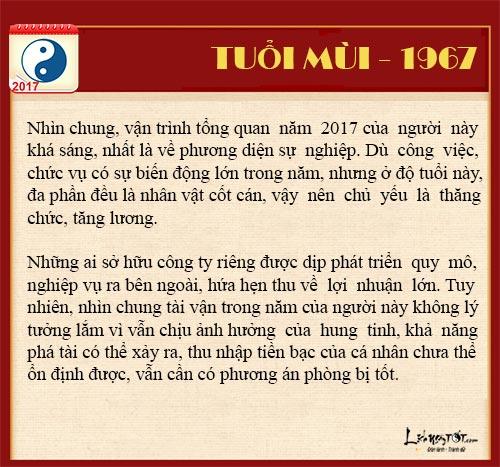 Tuoi Mui 2017 Tu vi tai loc nam 2017 cua nguoi tuoi Mui hinh anh goc 5