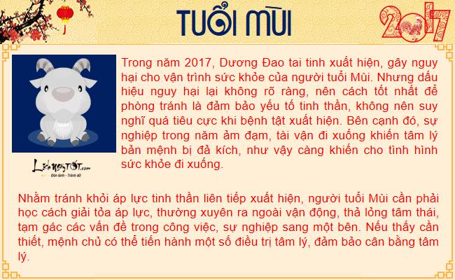 Tu vi suc khoe nam 2017 cua tuoi Mui - Tu vi tuoi Mui hinh anh goc