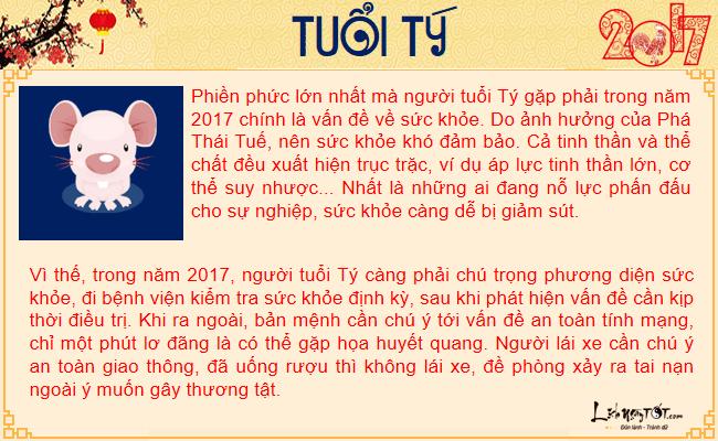 Tu vi suc khoe nam 2017 cua tuoi Ty - Tu vi tuoi Ty nam Dinh Dau hinh anh goc