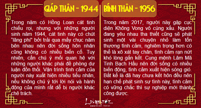 Xem tinh duyen nam 2017 cua nguoi tuoi Than chi tiet hinh anh goc 2