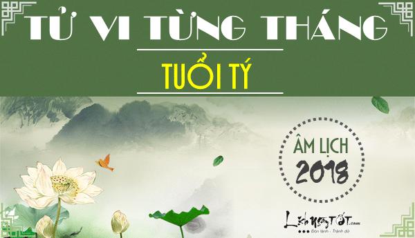 Tu vi tuoi Ty 2018, van trinh 12 thang nam Mau Tuat 2018