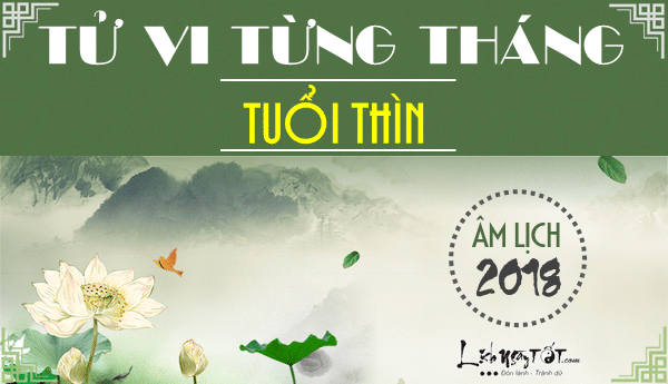 Tu vi tuoi Thin 2018, van trinh 12 thang nam Mau Tuat 2018
