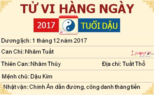 Tử vi hàng ngày tuổi Dậu thứ 6 ngày 1 tháng 12 năm 2017