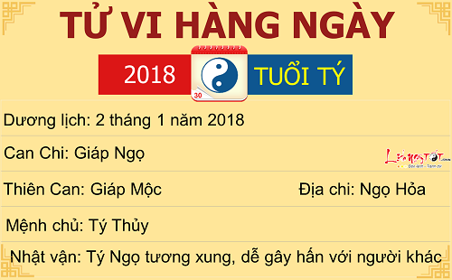 Tu vi tuoi Ty ngay 2 thang 1 nam 2018