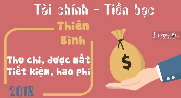 Tu vi cung Thien Binh 2018 tai chinh
